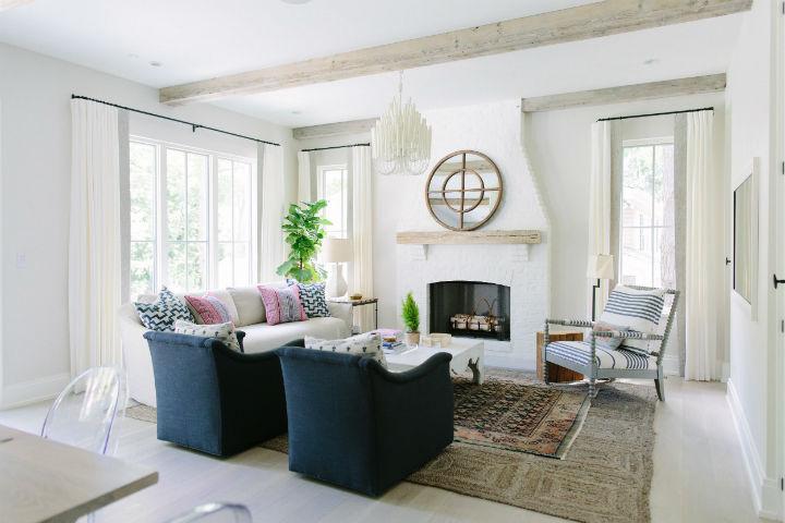 English farmhouse living room