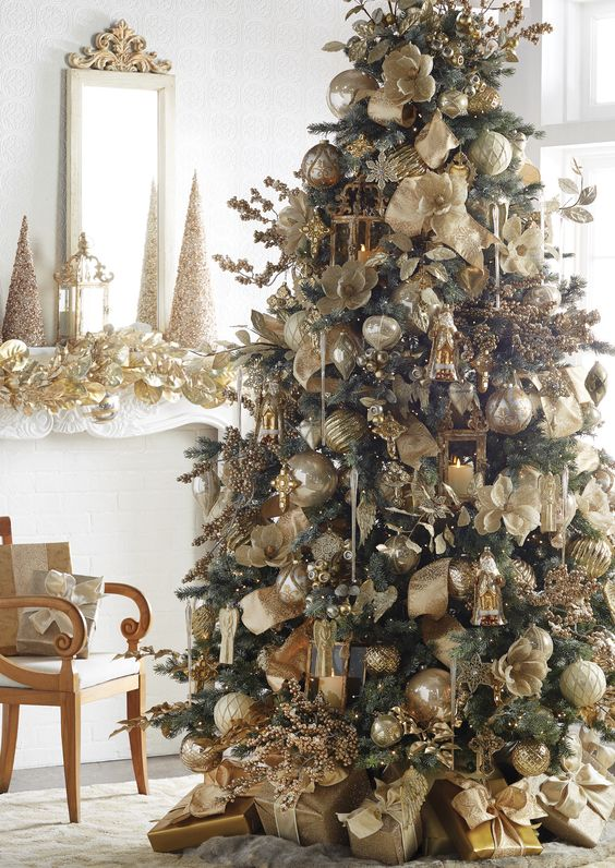 gold Christmas color