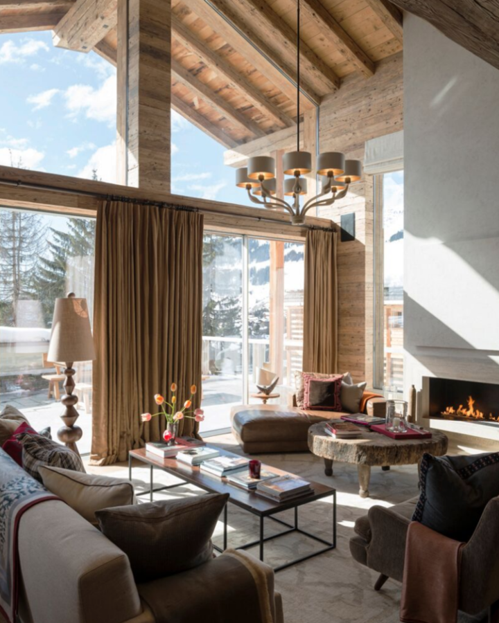 a luxury chalet home decor