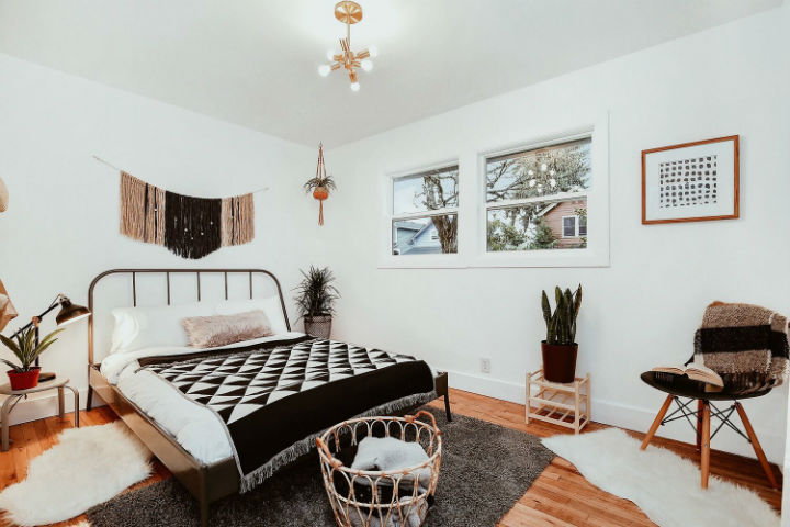 mid-century ranch bedroom
