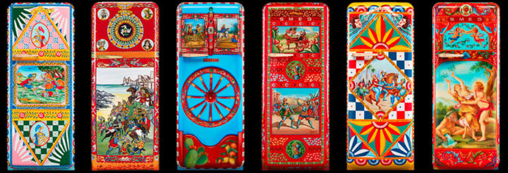 dolce&gabbana and smeg refrigerators with colors
