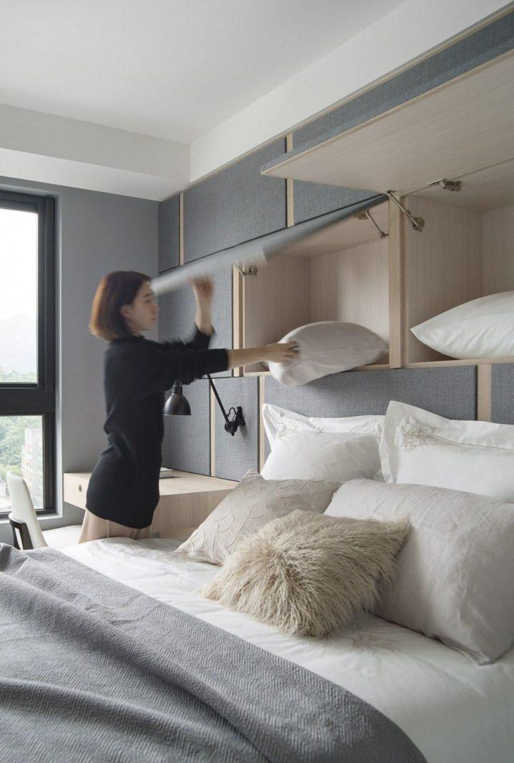 girl organizing her bedroom