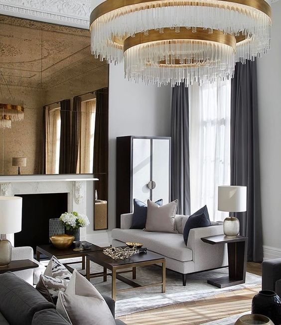 special chandelier in living room decor