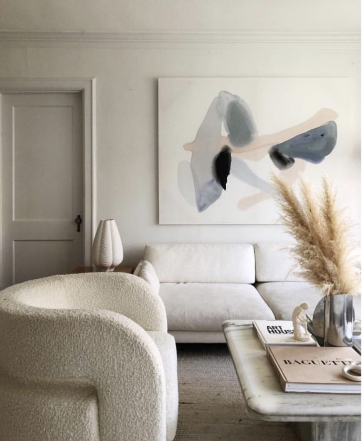 large painting on living room wall decor