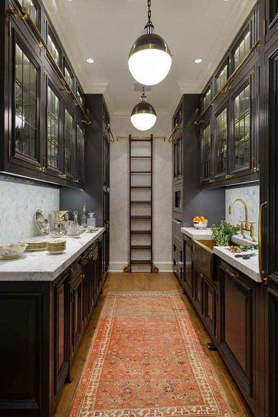 decorative ladder in kitchen