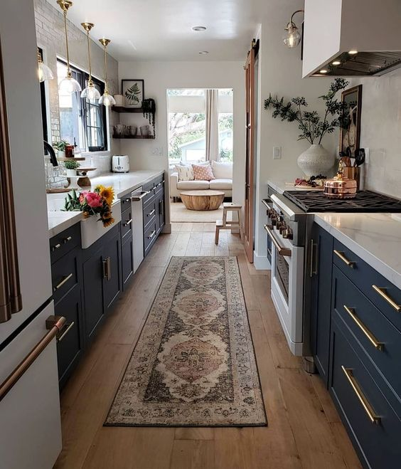 long carpet in kitchen