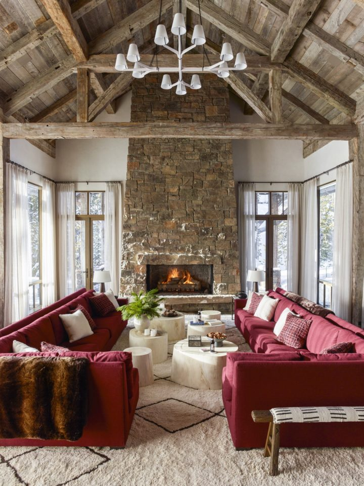 Modern Rustic Chalet With Bold Colors