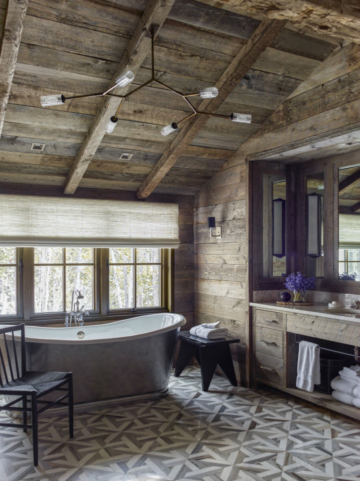 wood walls with bold colors
