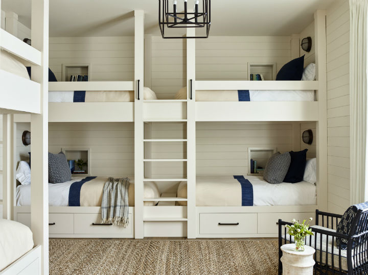 white and blue bedroom idea