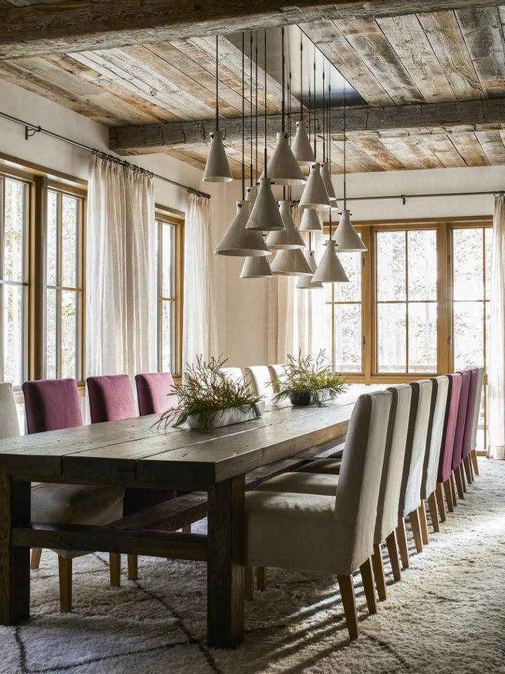 rustic dining room chalet