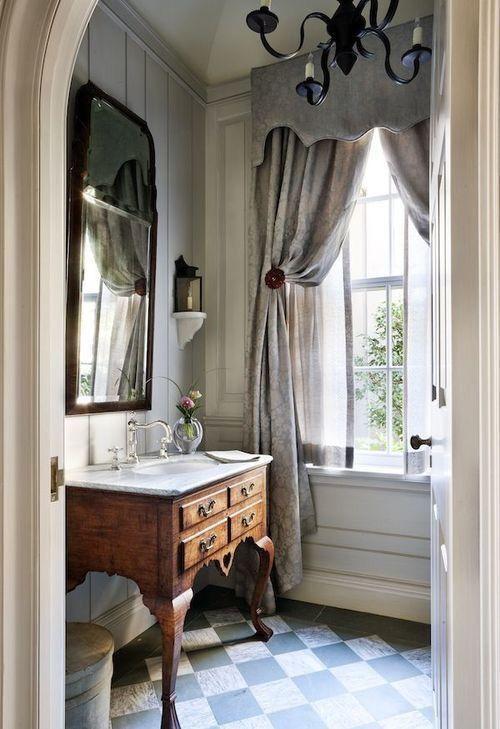 repainted romantic bathroom