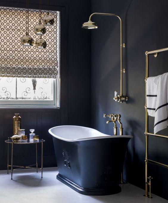 dark romantic bathroom