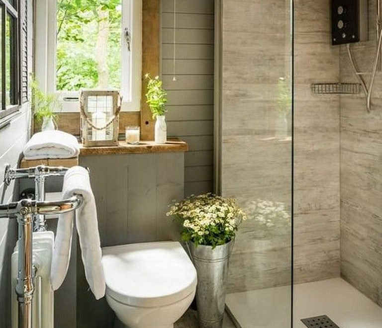 37 Best Small Bedroom Ideas And Designs For 2020: Shower Unit Decor