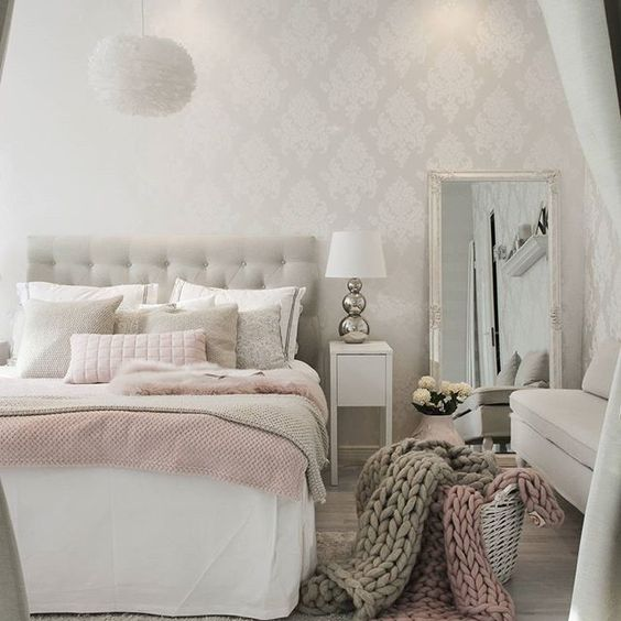 double bed in small bedroom