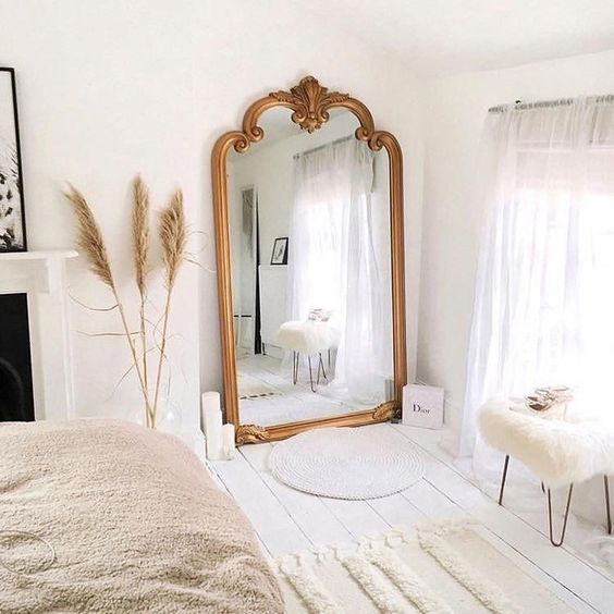 mirror in small bedroom