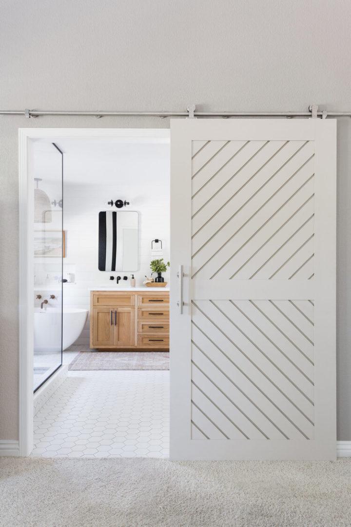 functional bathroom door