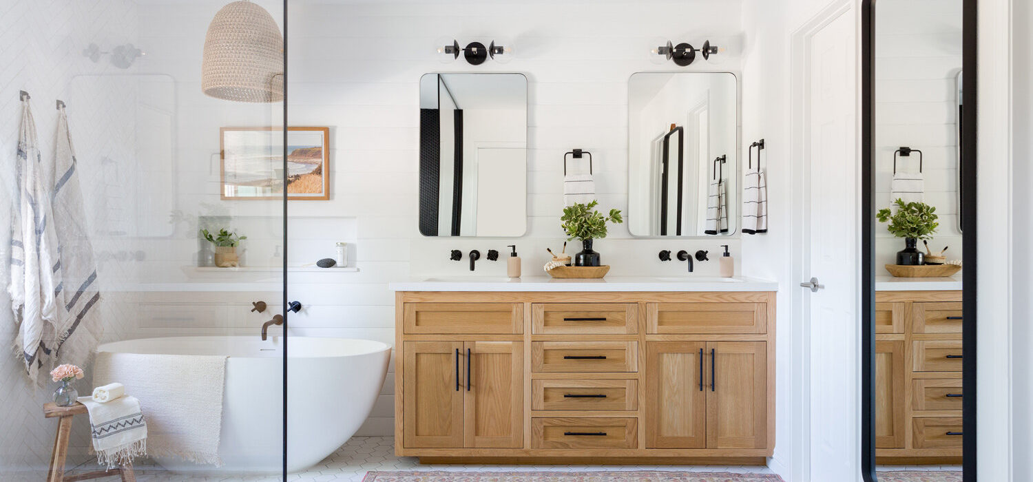 functional interior in bathroom