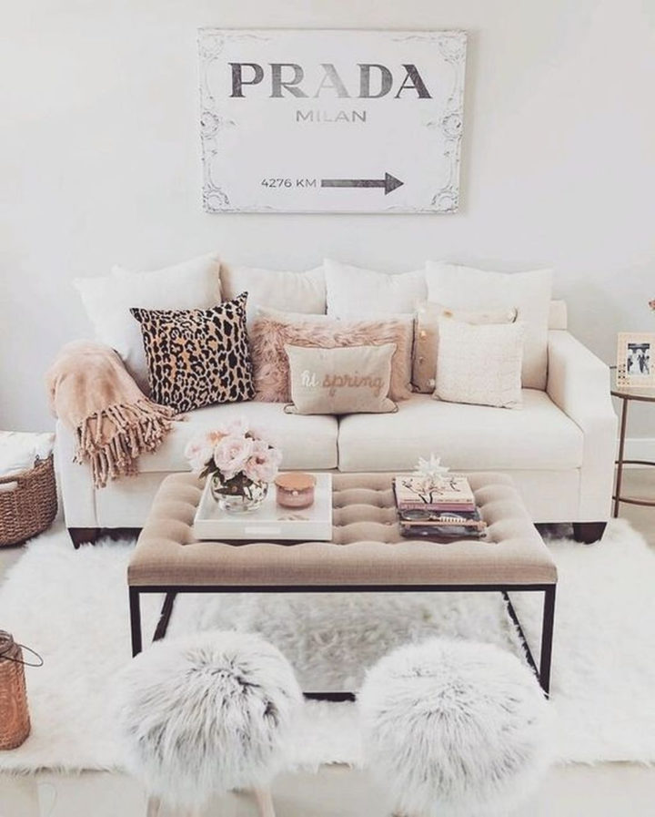 white sofa with pillows
