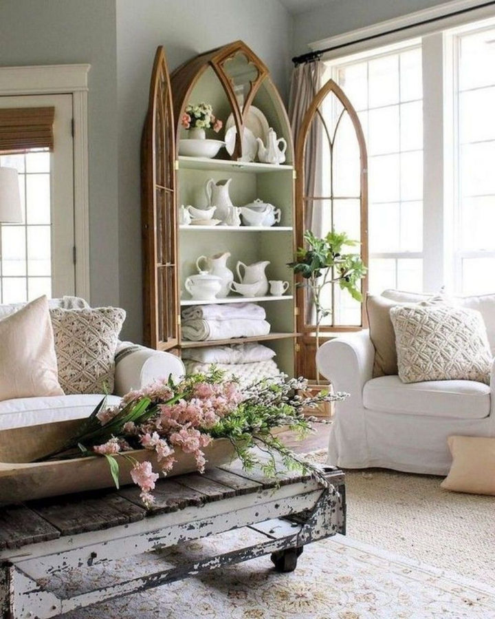 chic white living room
