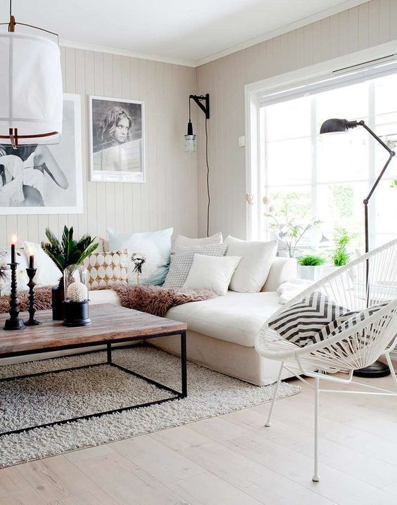 big white sofa and pillows