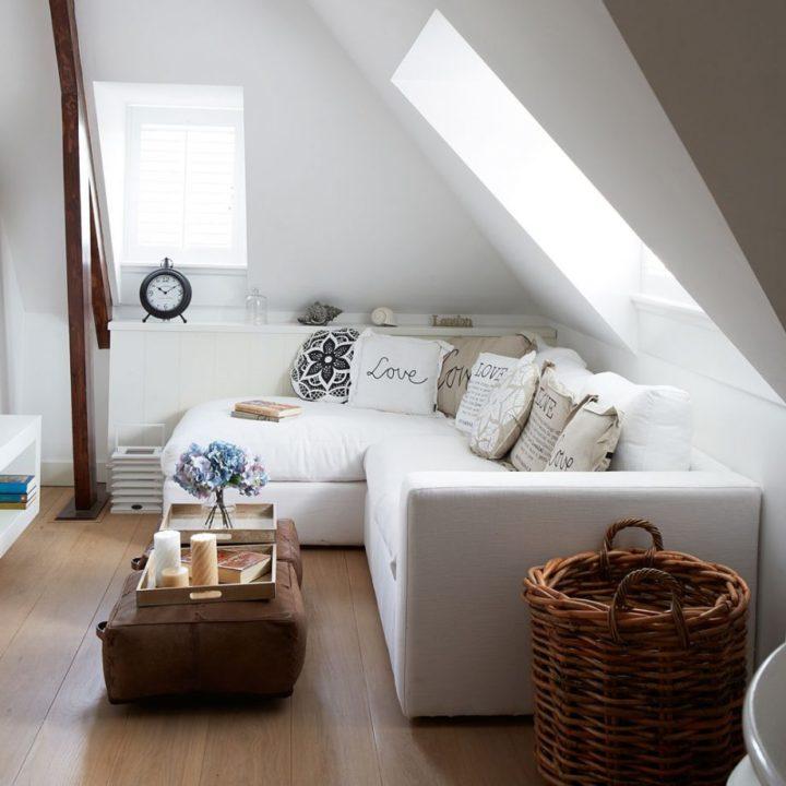 big white sofa