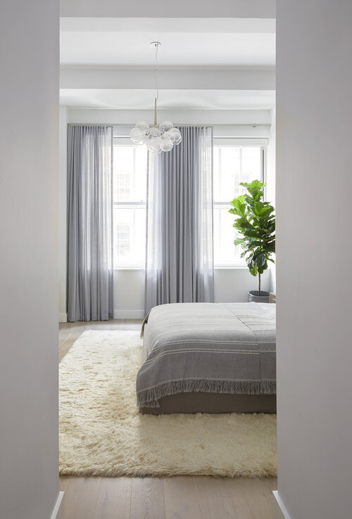 white-washed palette in bedroom