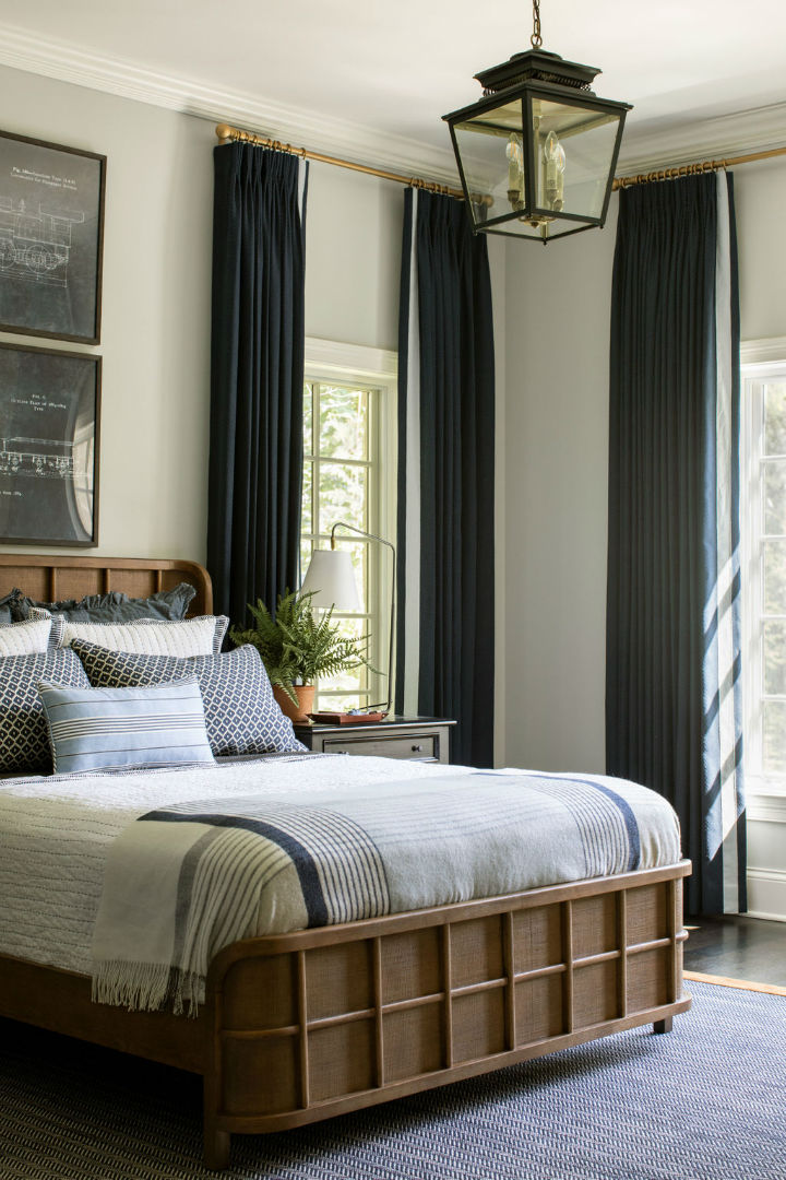 double size bed with pillows