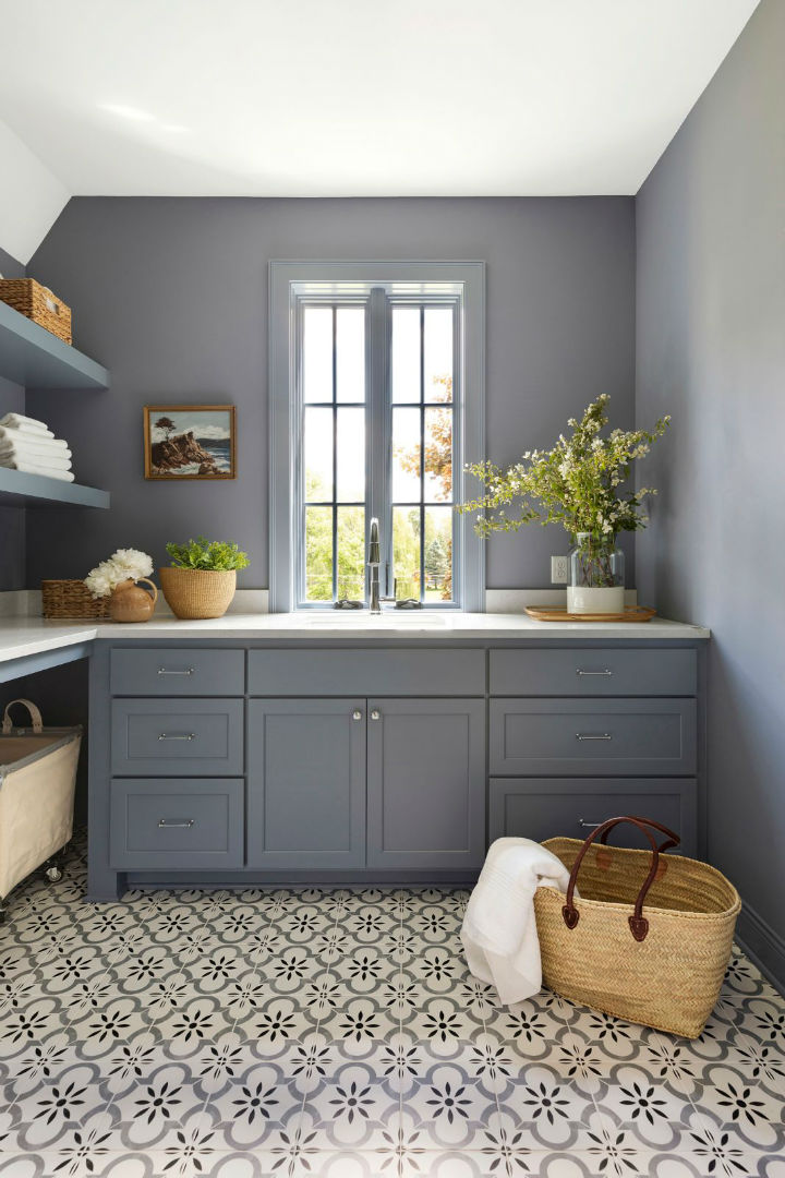 pastel colored cabinets