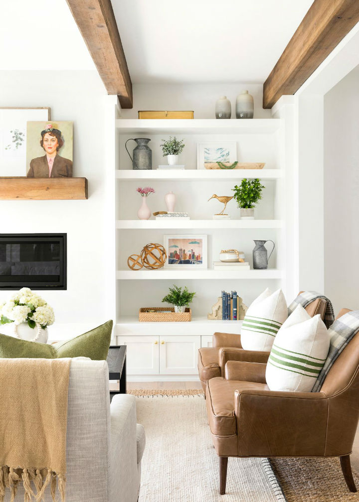 inviting white living room area