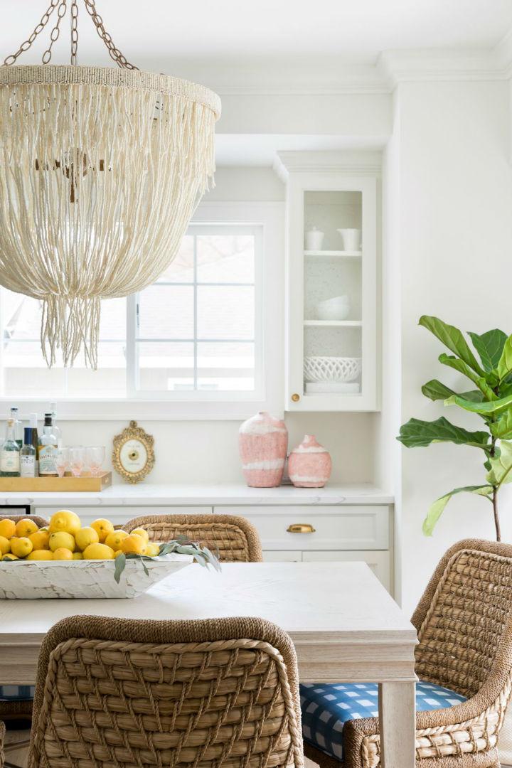 white walls in kitchen