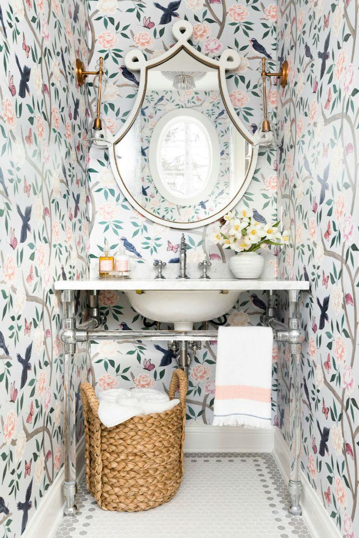 patterns in bathroom basin