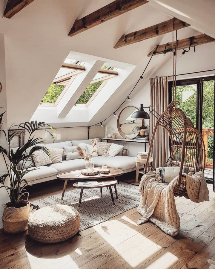 cozy home in beige colors