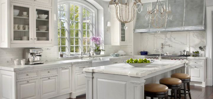 fine fitted furniture in white kitchen
