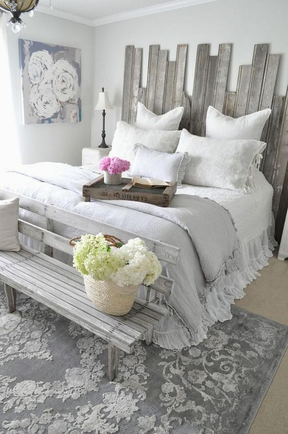 double white bed