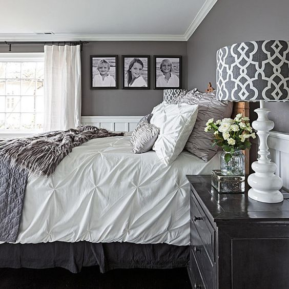 king size bed with white sheets
