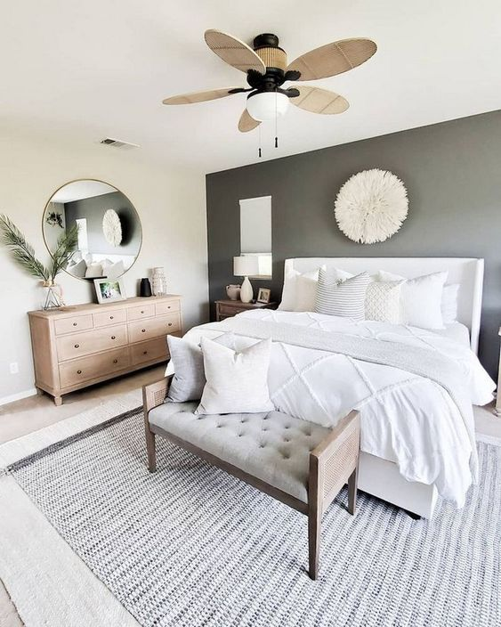 round mirrors in bedroom