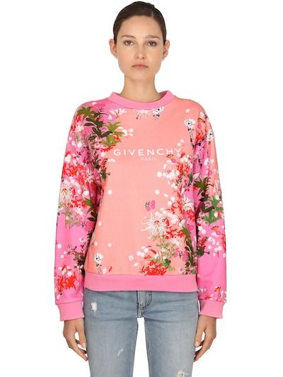pink floral Givenchy sweatshirt