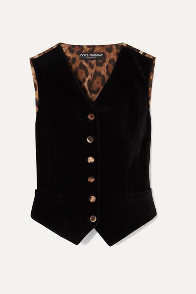 a black and leopard waistcoat