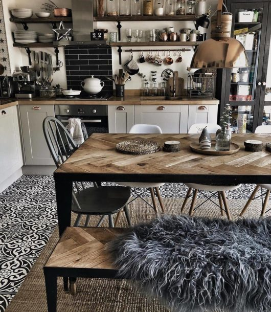 white modern country Kitchen On a Budget