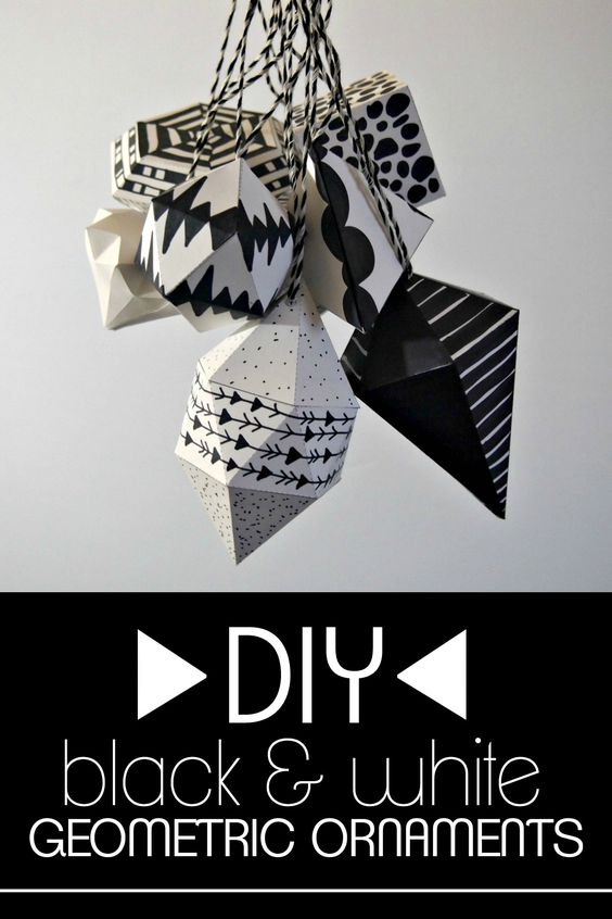 geometric ornaments as DIY home project