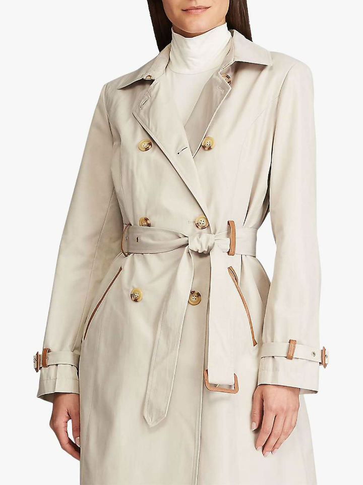 a leather trench