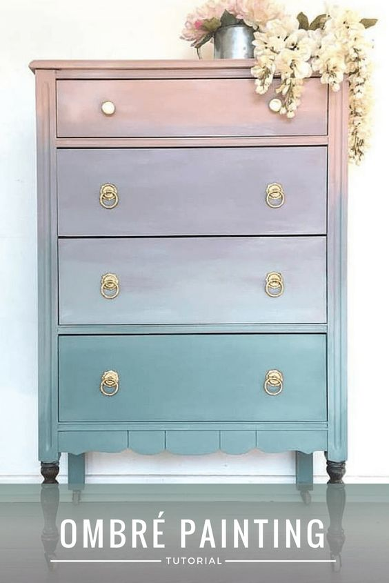 ombre furniture painting