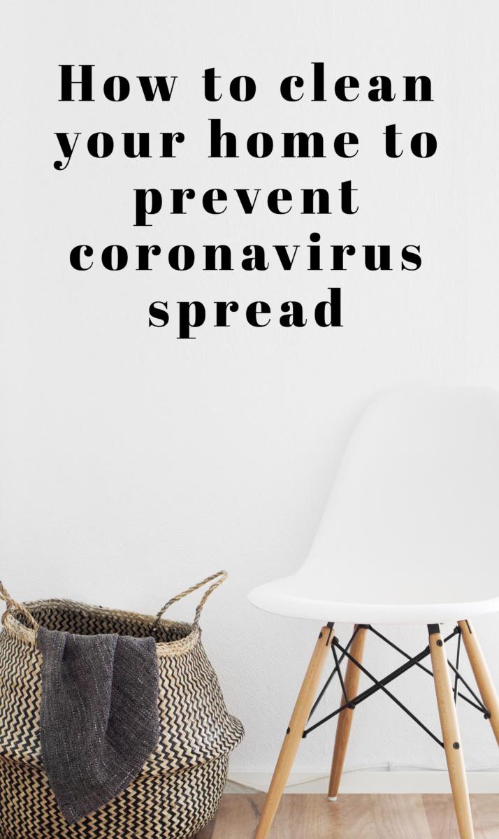 cleaning tips for coronavirus