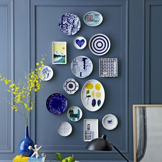 old plates as a DIY home project