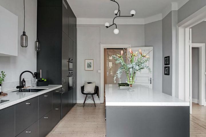 many kitchen cabinets