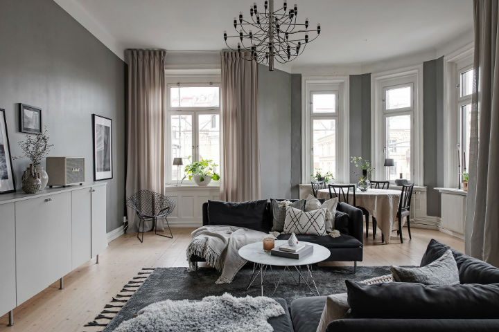 grey and white interior