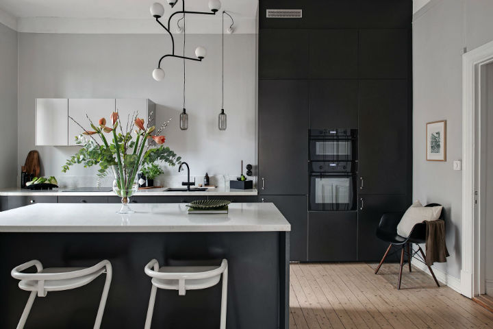 modern kitchen to live in style