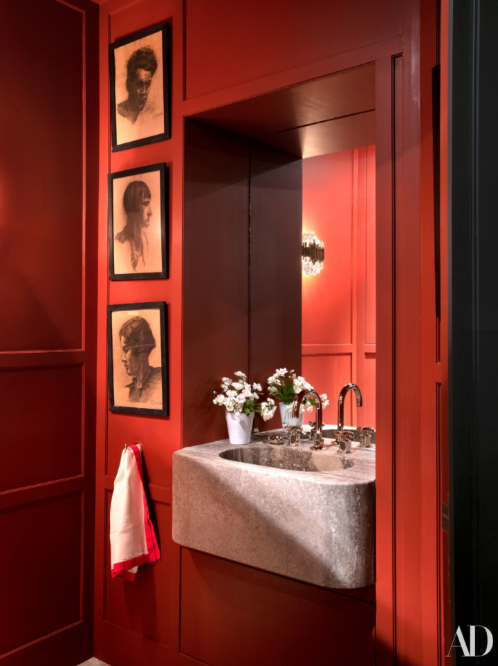 special red color for bathroom