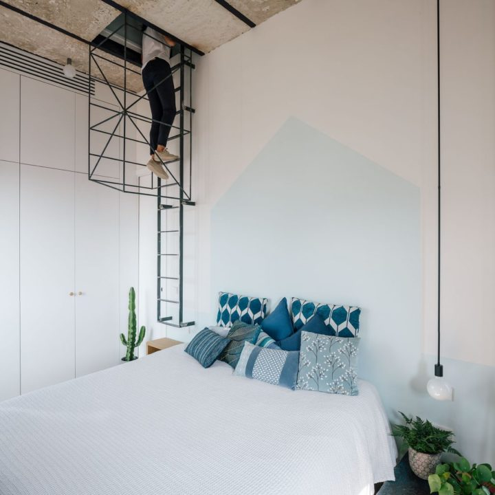 ladder in bedroom