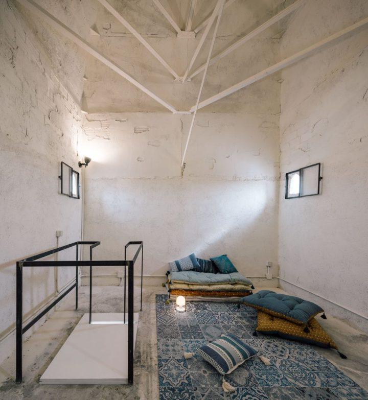 unique apartment with attic sitting area